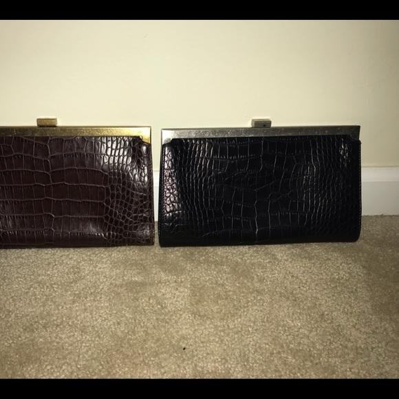 Ralph Lauren Clutch Black Snakeskin Alligator look 2906e65023385